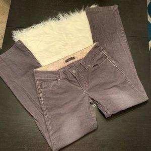 PrAna gray corduroy pants. Size 8.